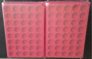LOT-10-BOX-PLATEAUX-DE-RANGEMENT-EN-FEUTRINE-POUR-CAPSULES-40-CASES-RONDES