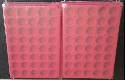 LOT 20 BOX PLATEAUX DE RANGEMENT EN FEUTRINE POUR CAPSULES 40 CASES RONDES !