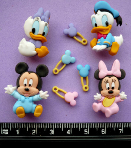 Disney BABIES Craft Buttons 1ST CLASS POST Mickey Mouse Minnie Donald Duck Baby