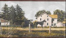 Amish Country, Barns, Horse and Buggy WALLPAPER BORDER
