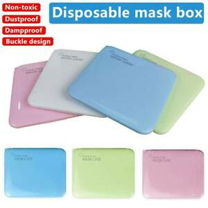 Face Mask Organizer Storage Case Face Shield Holder Portable Box Travel