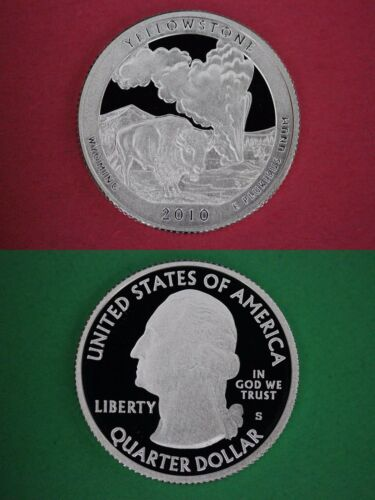 Silver 2010-S Yellowstone Park Proof Deep Cameo Quarter Combined Shipping