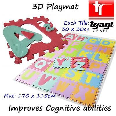 Large 3D Playmat Soft Alphabet Number Sponge Numeracy Literacy Child Learning