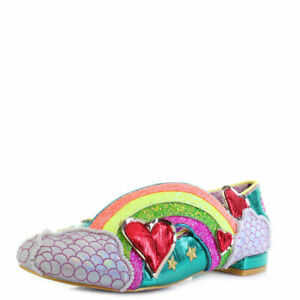 NEW-IRREGULAR-CHOICE-HOLIDAY-ROMANCE-GREEN-A-FLATS