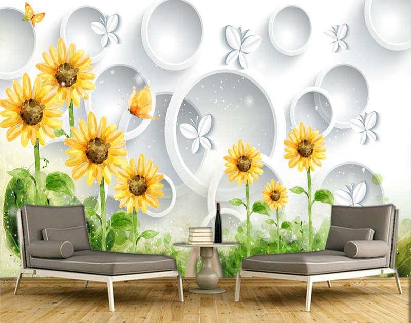 Firm Great Sunflower 3D Full Wall Mural Photo Wallpaper Printing Home Kids Decor