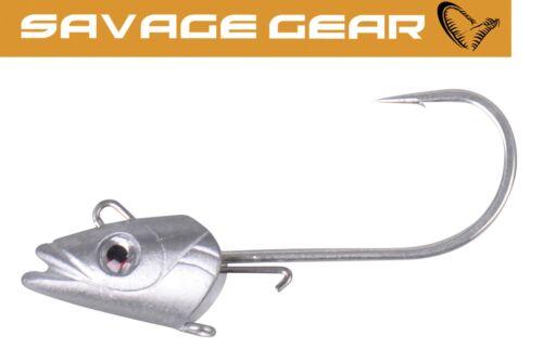 Bleikopf für Gummifische 3 Jighaken Savage Gear Sandeel Jighaken Jigg Head