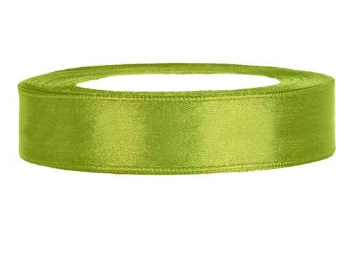 Satinband hellgrün 12 mm 25 m Schleifenband Geschenkband Dekoband