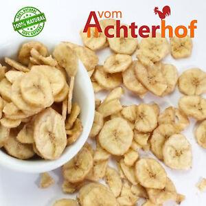 1 kg Bananen Bananenchips getrocknet leicht gesüsst vom-Achterhof
