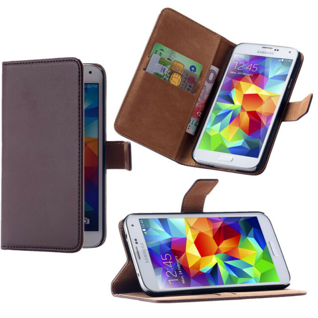 PU Leather Case Wallet Card Slot Flip Stand Magnetic Cover For Samsung S7 S6