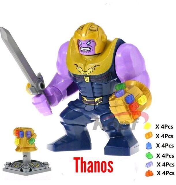 LEGO Infinity War Thanos Minifigure with Gauntlet!! 76107 Mini Figure Avengers