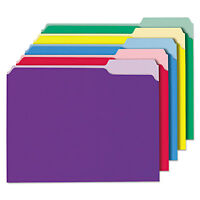 Universal Recycled Interior File Folders 1/3 Cut Top Tab Letter Assorted 100/box on sale