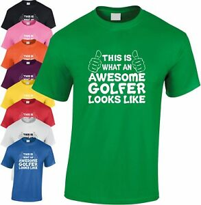 Toll Golfer Kinder T-shirt Geschenk Weihnachtsgeschenk Club Witz Reich Und PräChtig
