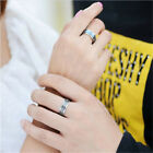 Women/Mens Fashion Jewelry Cross Bible Ring Stainless Steel Tone Christian Ring=