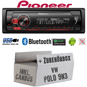 Pioneer autoradio para VW Polo 9n3 Bluetooth Spotify mp3 USB Android Kit de integracion