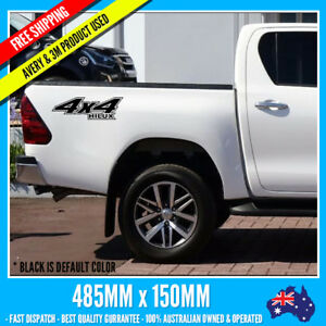 2x-TOYOTA-HILUX-body-Vinyl-Decal-stickers-racing-graphics-quality-emblem-logo