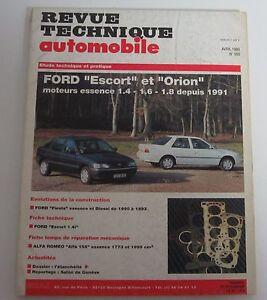 2019 Nouveau Style Revue Technique Rta 550 Ford Escort & Orion Essence 1.4 1.6 1.8 1991 -> Avec Une RéPutation De Longue Date