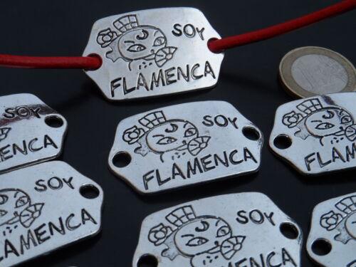 ¡OFERTA 2x1 De 8 a 120 Entrepiezas Zamak Flamenca Rocio pulsera tablao OLE-08