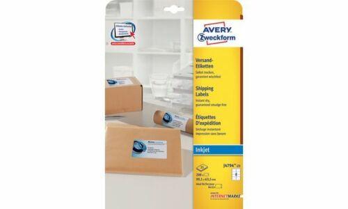 Avery Zweckform Versand-Etiketten Etiketten weiß Rand 99x57 250 Stück Drucker