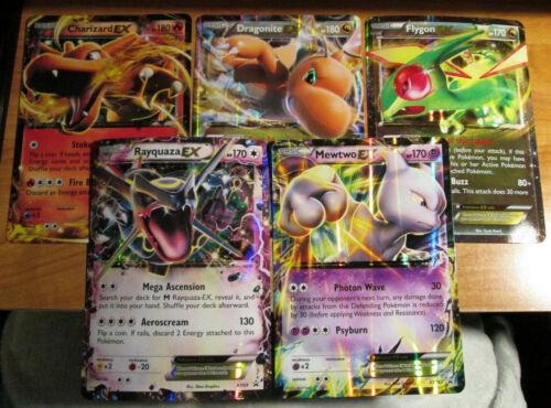 PL Pokemon JUMBO//OVERSIZED Card EX Lot#A Charizard+Dragonite+Rayquaza+Mewtwo XY