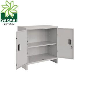 Armadio armadietto basso metallo mini 60x40 cm con piano for Armadio basso ufficio