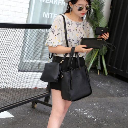 4PCS Fashion Women Handbag Shoulder Bags Four Pieces Tote Bag Crossbody Wallet