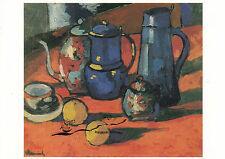 Kunstkarte: Maurice de Vlaminck - Stillleben mit Krügen u. Orangen