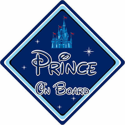 Baby On Board Disney Castle Disney Prince On Board Car Sign