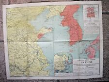 THÉÂTRE DE LA GUERRE EN CHINE Carte J. HANSEN 1900 - Révolte  Boxer Rebellion