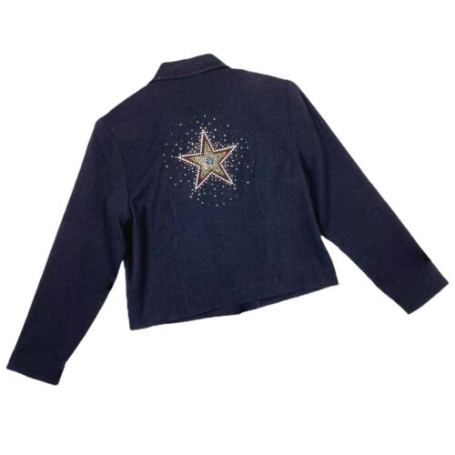 Double D Ranch Rhinestone Star Black Blazer Jacket