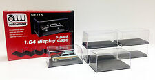 6 DISPLAY CASES FOR 1/64 SCALE MODEL CARS BY AUTOWORLD AWDC008