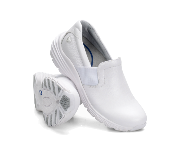 Nuovo pelle Damenschuhe Infermiera Compagni Harmony pelle Nuovo Bianca Antiscivolo Schuhe Slip-On 534400