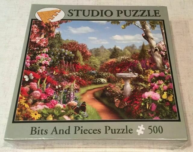"500 Piece Puzzle /""Butterfly Garden/"" New 16/""x 20/"" Art by Alan Giana"