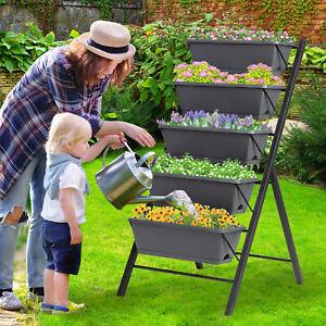 5 Etage Hochbeet Frühbeet Blumentreppe Pflanzenbeete Blumenbeet Pflanzenbeete