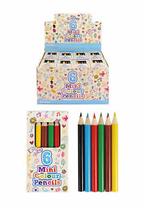 3-6-10-12-15-20-24-30-Mini-Pencil-Crayons-Pack-of-6-Colours-Party-Bag-Filler