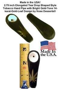 Pocket Niki Pipe Ceramic Glass #0731 Tear Drop Design for Tobacco Made In USA