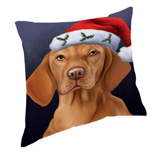 Let it Snow Beagles Dog Wearing Santa Hat Throw Pillow 14x14