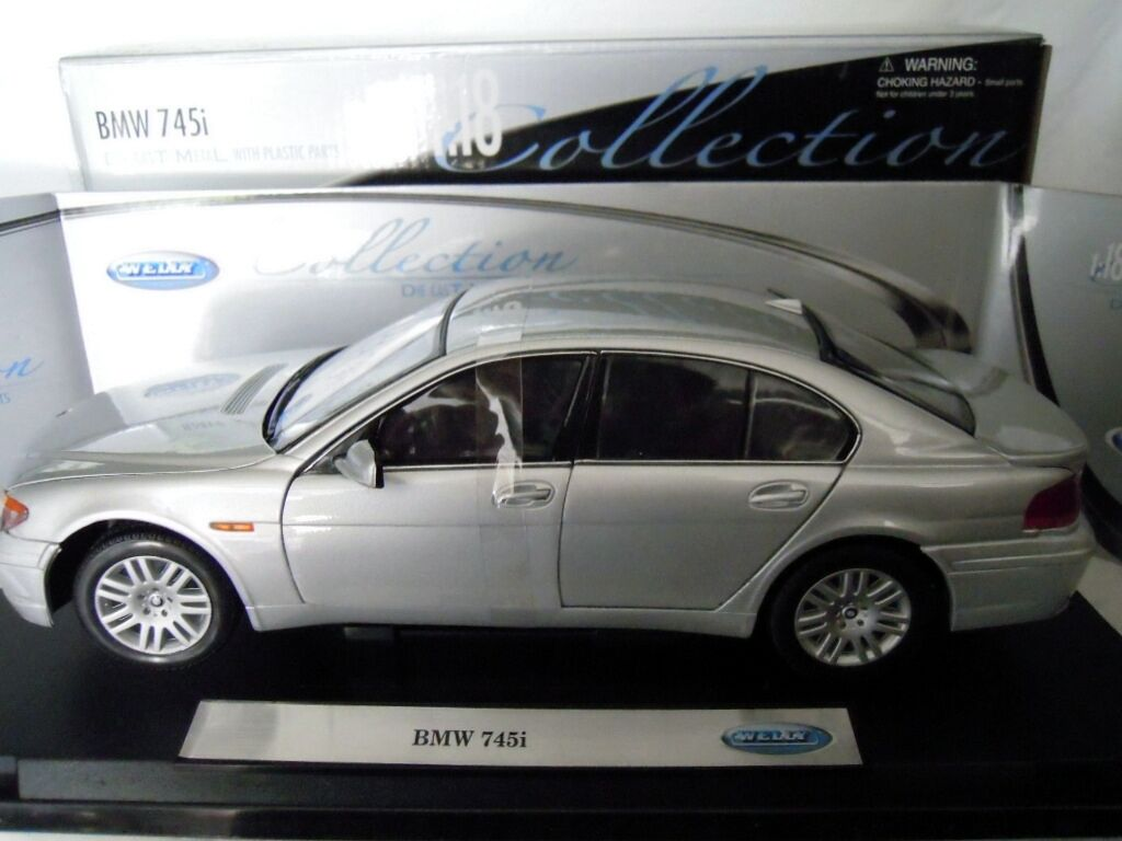 Welly 2512W  BMW 745i in silver, silver, silver, Metall-Modell in 1 18, NEU & OVP 6a7e61