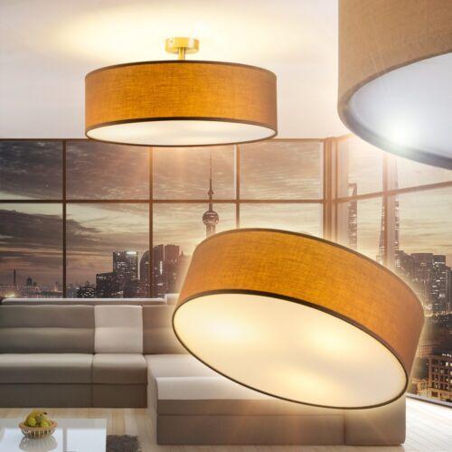 Design Deckenlampe Wohn Zimmer Lampen Flur Strahler Küchen Leuchte Stoff braun