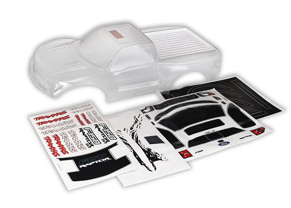 NEW Traxxas Ford Raptor Clear Body w/Decals:Slash/Slash VXL/Slash 4x4 SHIPS FREE