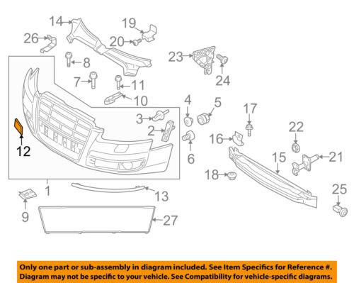 AUDI OEM 09-10 A6 Quattro Front Bumper-Tow Hook Eye Cap Cover 4F0807441FGRU