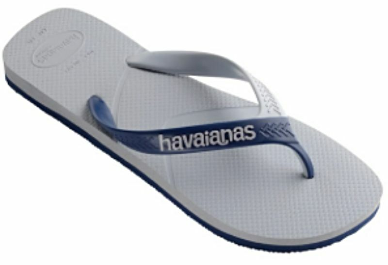 Havaianas Men`s Brazilian Flip Flops Casual Sandals Grey Navy Blue Any Size NWT
