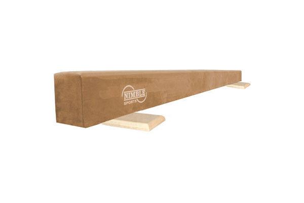 Nimble Sports Tan Suede Gymnastics Low Balance Beam Made in the USA -6 Feet Long