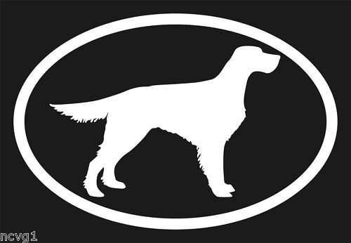 Pair of GORDON SETTER Oval Euro Decal Sticker dog dogs Puppies