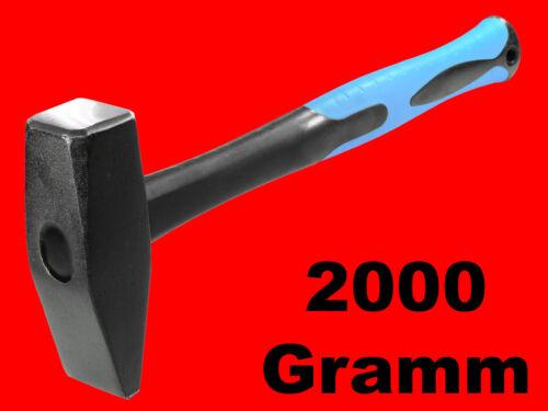 Werkstatt Hammer Vorschlaghammer Fiberglas XT037 Profi Schlosserhammer 2000 Gr