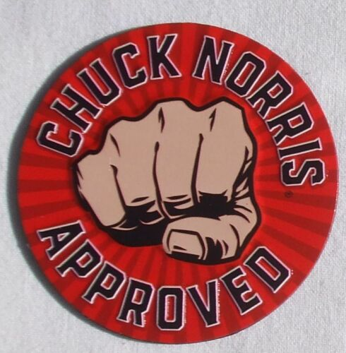 Approved by Chuck Chuck Norris Genehmigt USA Metall  Magnet Magnetschild