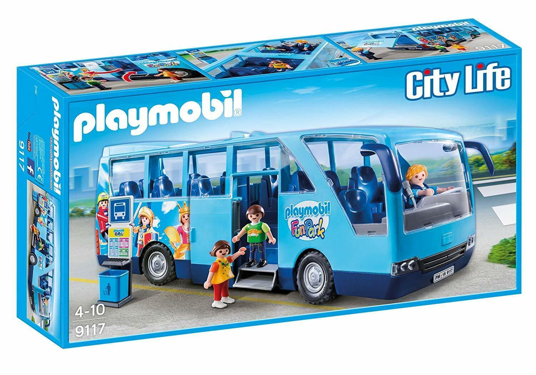 Jugarmobil City Life 9117. Autobús escolar FunPark. De 4 a 10 años
