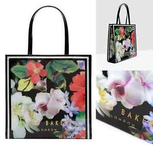 TED-BAKER-Ladies-Handbag-MEECON-Icon-Tote-Bag-LARGE-Pvc-Black-Shoppers-Bags-BNWT