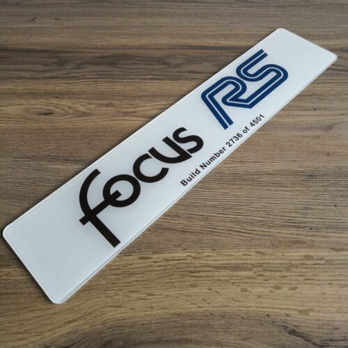 FOCUS RS MK1 PIASTRA Mostra numero Build