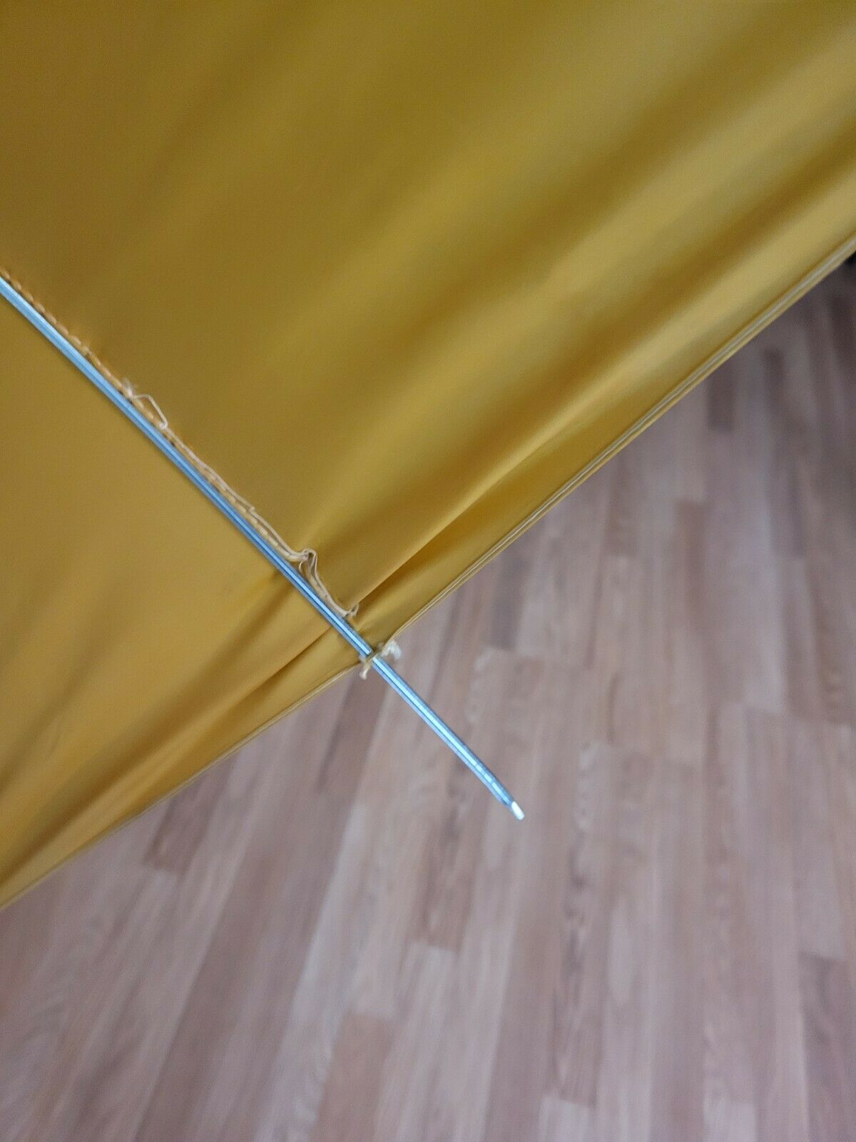 vtg 1960s 70s ? yellow mustard faux Bamboo Handle… - image 6