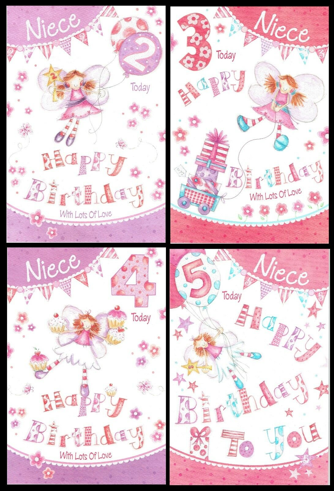 NIECE BIRTHDAY GREETINGS CARDS AGE 4     206139